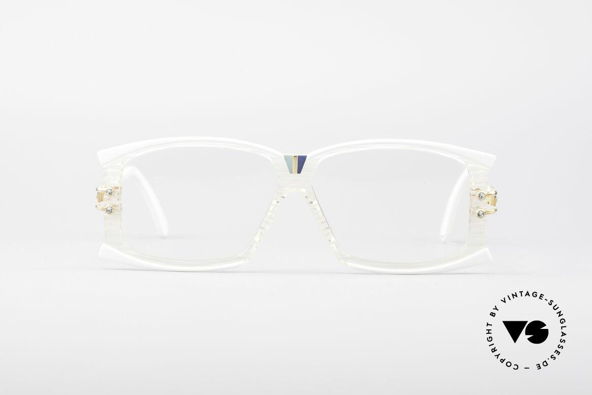 Cazal 195 80er Hip Hop Brille, interessantes Grundmuster mit dezentem Farbspiel, Passend für Damen