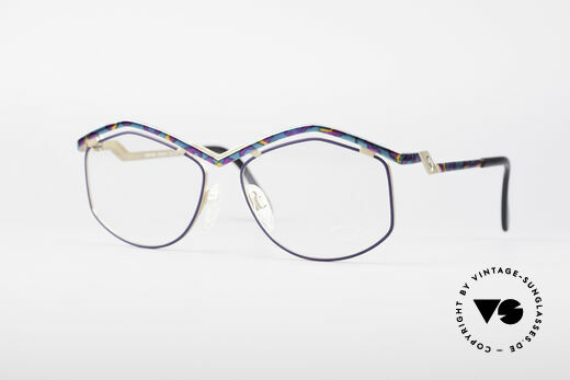 Cazal 249 Pop Art Design Titanium Details