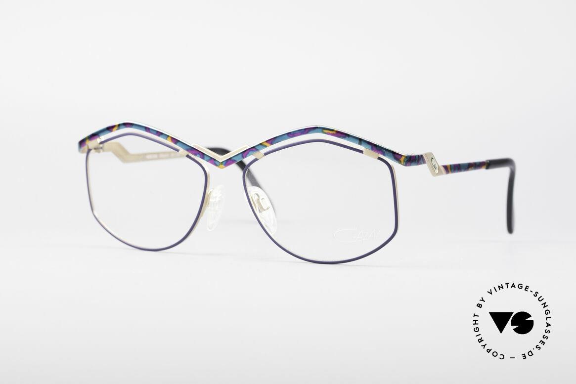 Cazal 249 Pop Art Design Titanium, zauberhafte CAZAL Designerbrille aus den 90ern, Passend für Damen