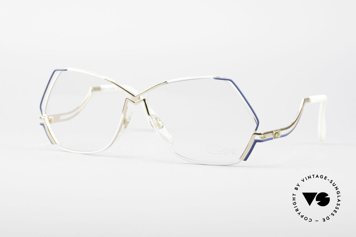 Cazal 226 West Germany Vintage Brille, außergewöhnliche, fünfeckige CAZAL Designerbrille, Passend für Damen