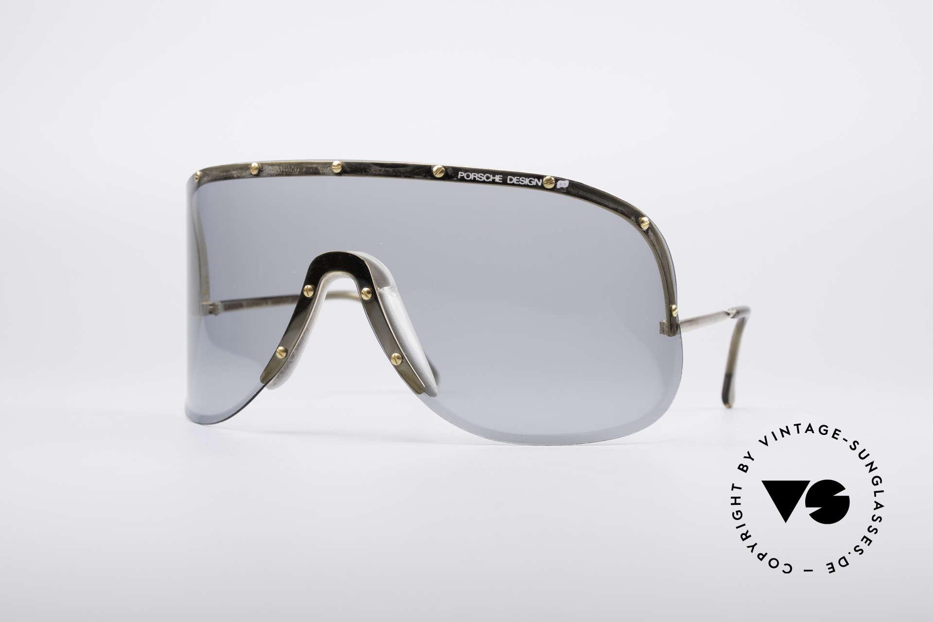 Porsche 5620 Yoko Ono Sonnenbrille Gold, vintage Porsche Carrera Designersonnenbrille der 1980er, Passend für Herren und Damen