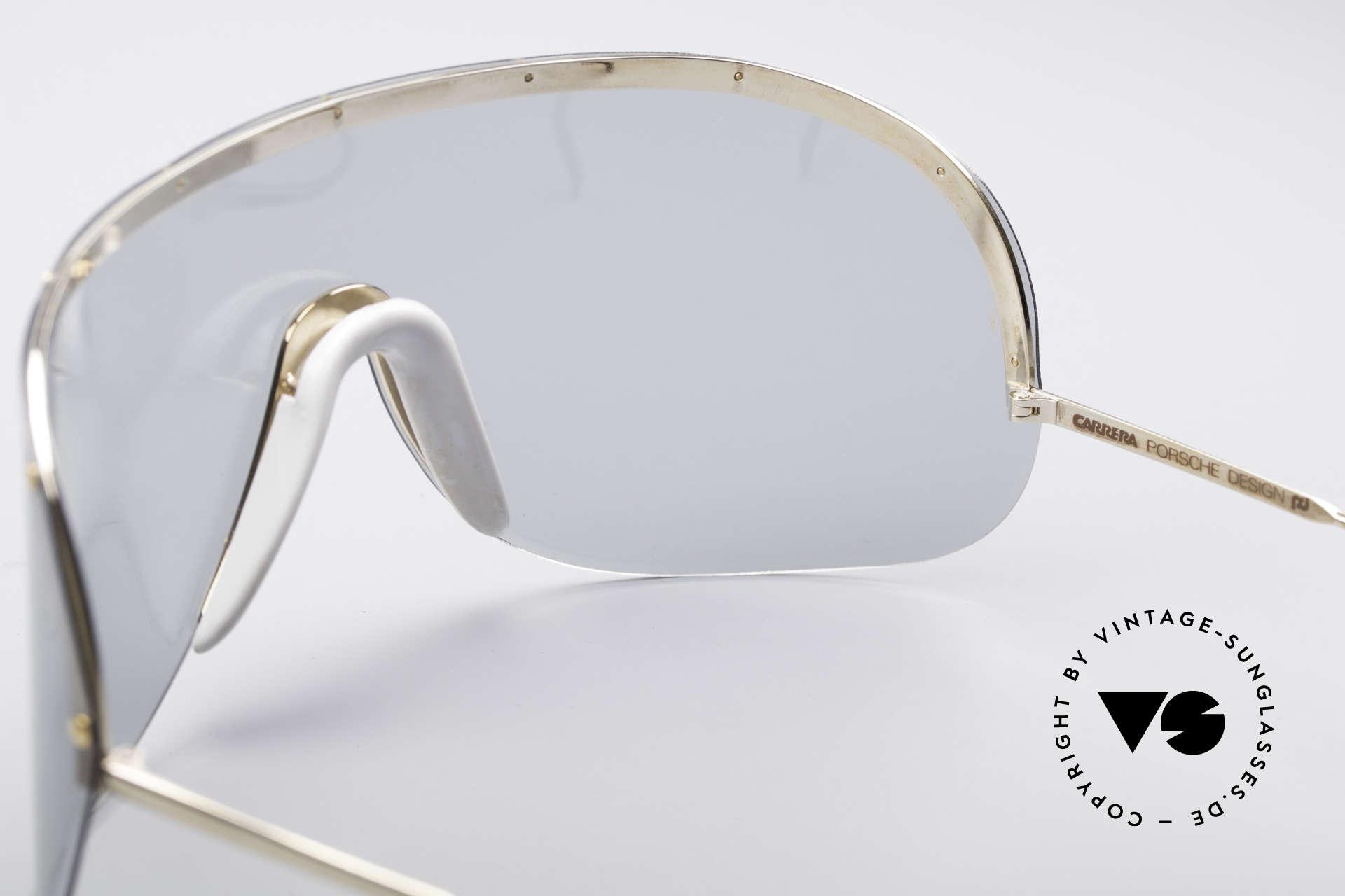Porsche 5620 Yoko Ono Sonnenbrille Gold, damals als Sportbrille konzipiert (polarisierende Scheibe), Passend für Herren und Damen