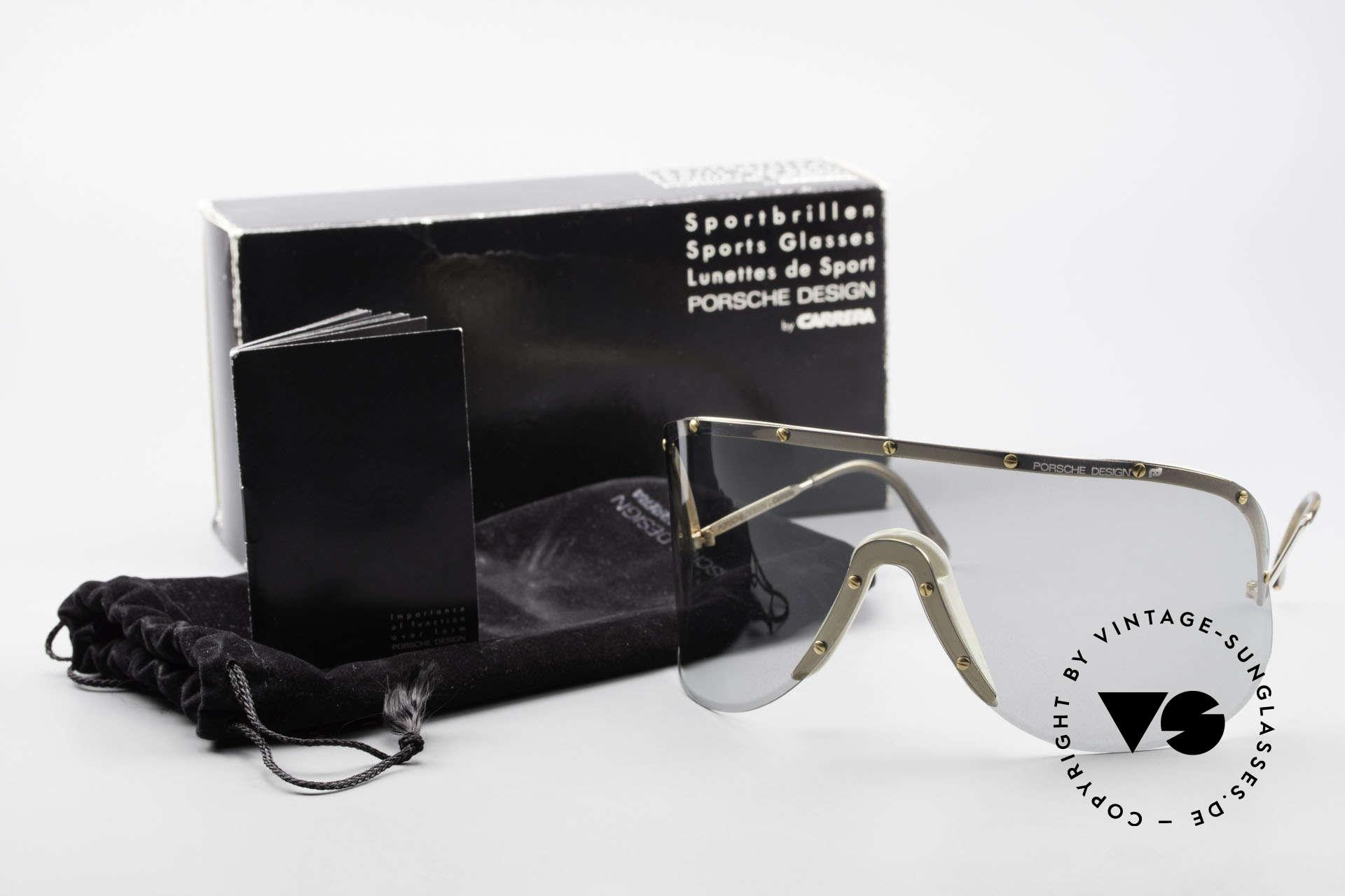 Porsche 5620 Yoko Ono Sonnenbrille Gold, inzwischen von diversen Promis (Madonna, etc) getragen, Passend für Herren und Damen