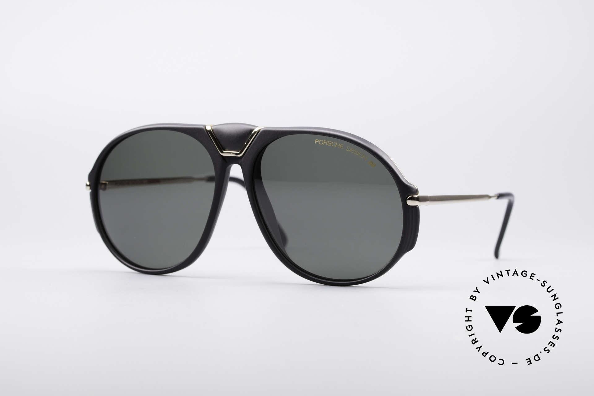 Porsche 5659 90er Wechselbrille Small, alte, klassische PORSCHE Carrera Design Sonnenbrille, Passend für Herren und Damen