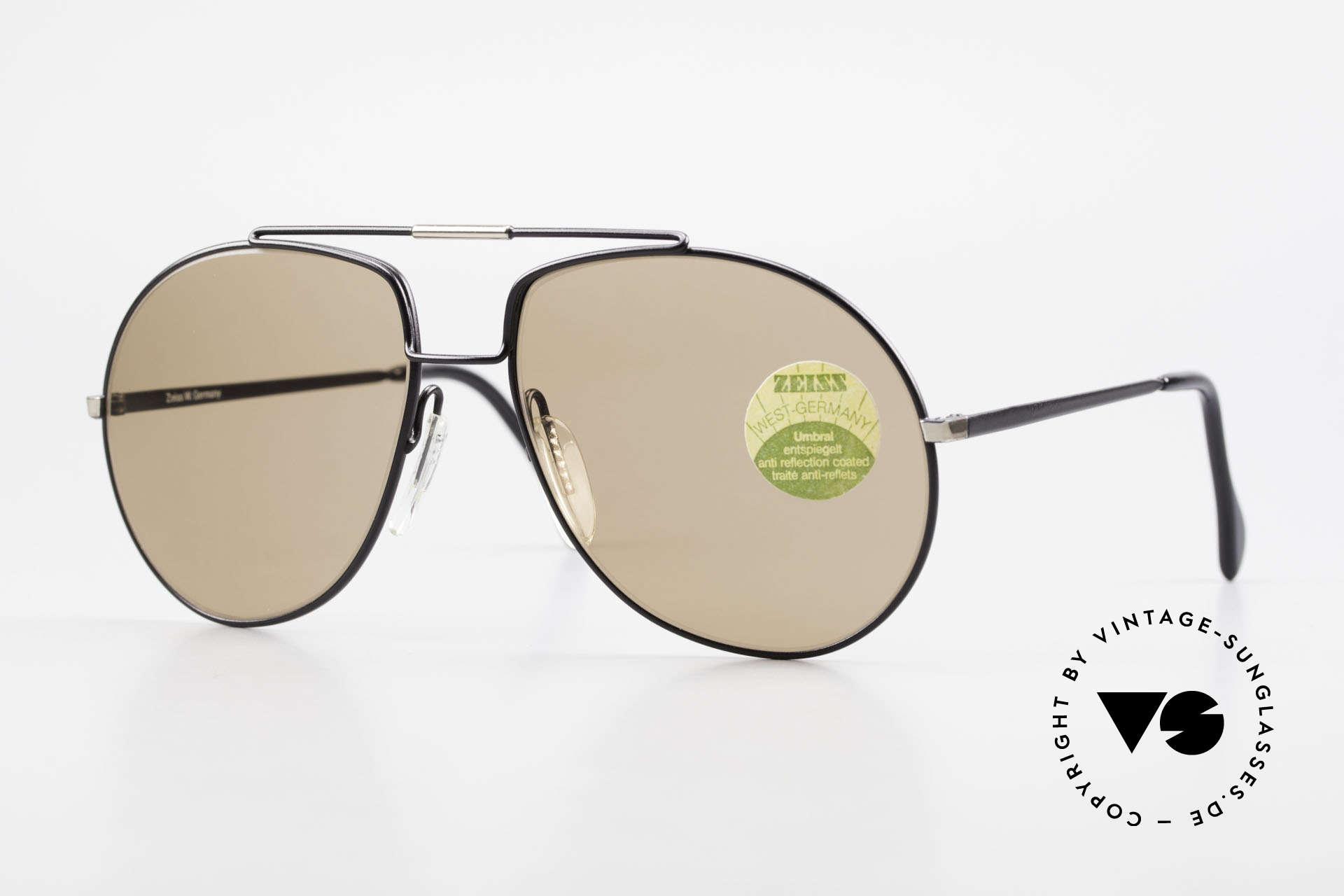 Zeiss 9369 Echt 80er Umbral Mineralglas, klassisches Zeiss Sonnenbrillen-Design der 80er Jahre, Passend für Herren
