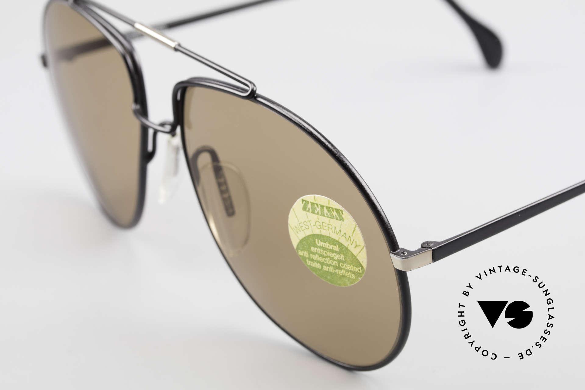Zeiss 9369 Echt 80er Umbral Mineralglas, die Gläser sind entspiegelt für ein blendfreies Sehen, Passend für Herren