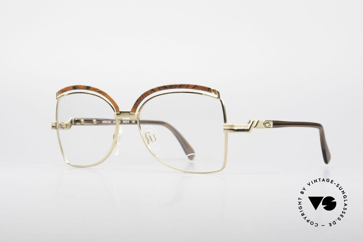 Cazal 240 90er Damen Designerbrille, tolle Rahmenkonstruktionen mit edlen Farben, Passend für Damen