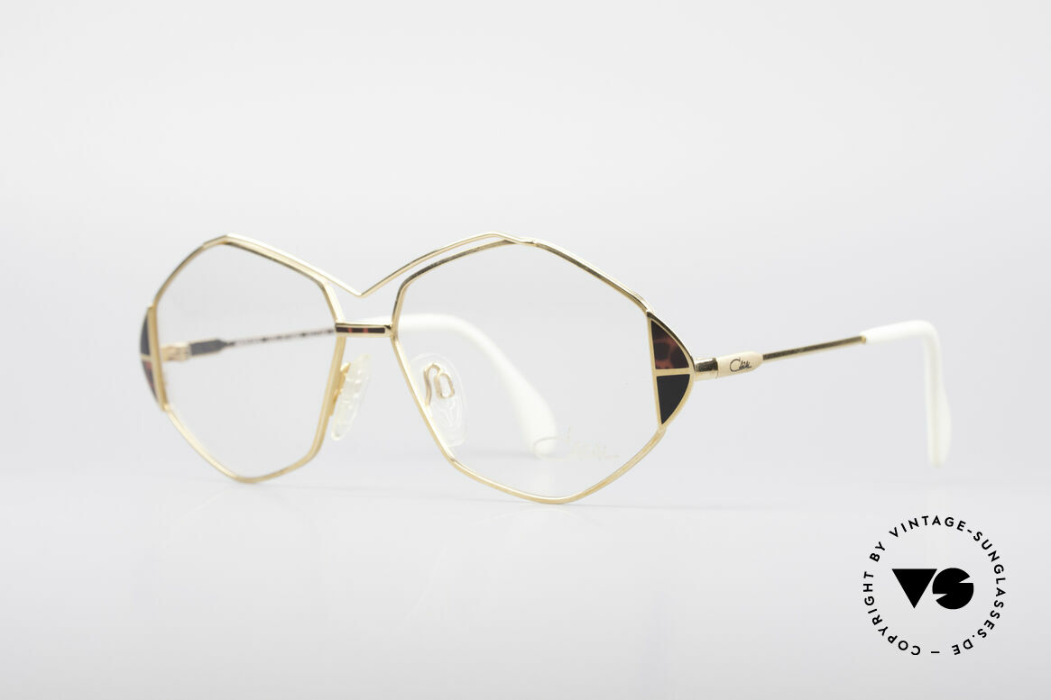 Cazal 233 Echt Vintage No Retro Brille, tolle Rahmenform mit raffinierten Farbakzenten, Passend für Damen