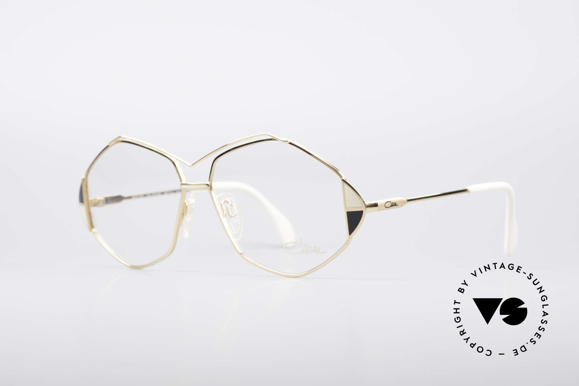 Cazal 233 Vintage West Germany Brille, tolle Rahmenform mit raffinierten Farbakzenten, Passend für Damen