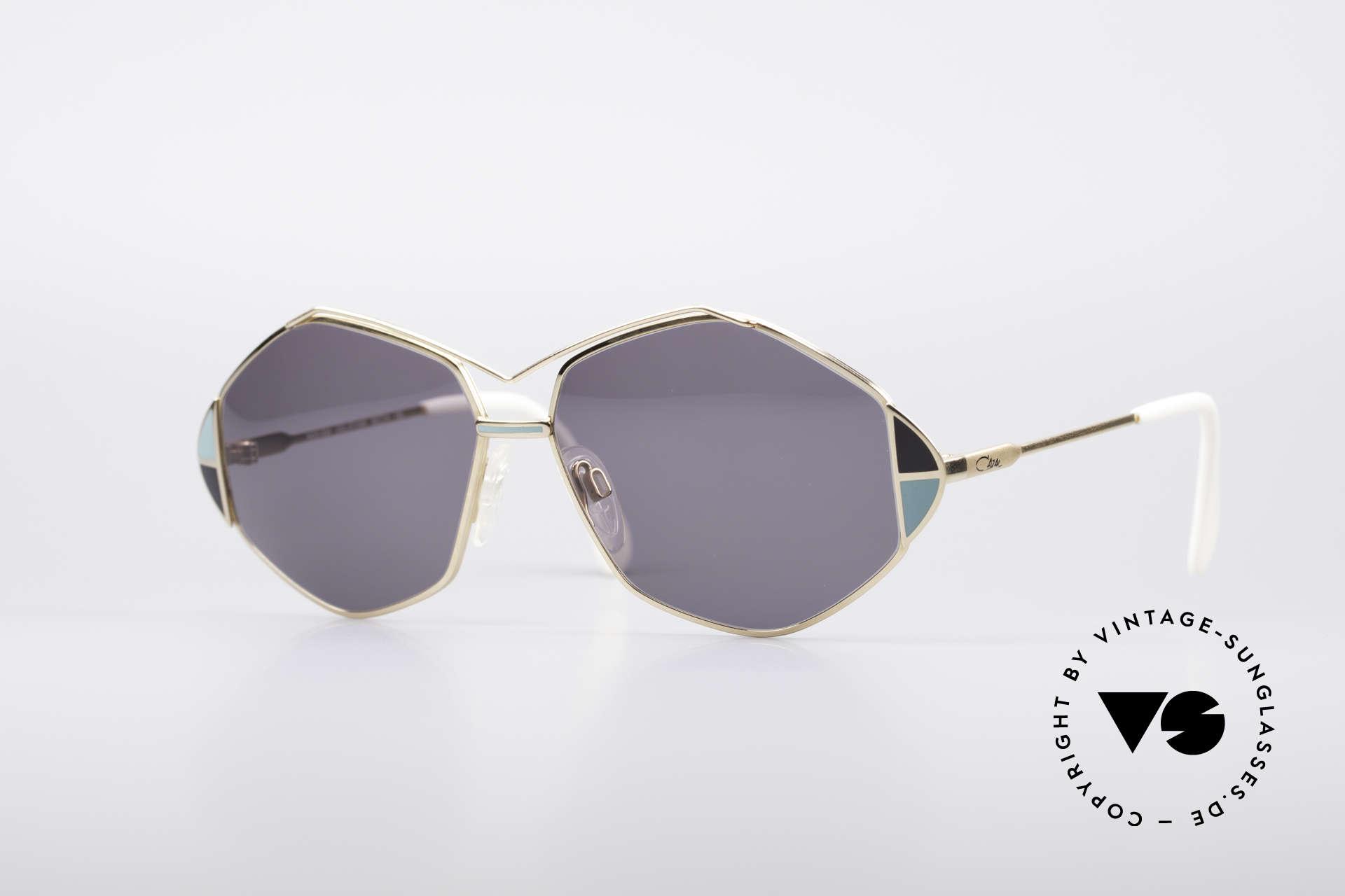Cazal 233 80er Vintage West Germany, außergewöhnliche Cazal Sonnenbrille von 1989, Passend für Damen