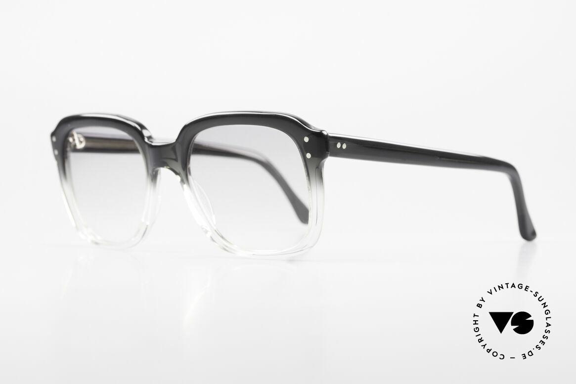 Metzler 449 Echte 70er Original Nerdbrille, enorm stabiler, massiver Rahmen; Medium-Gr. 130mm, Passend für Herren