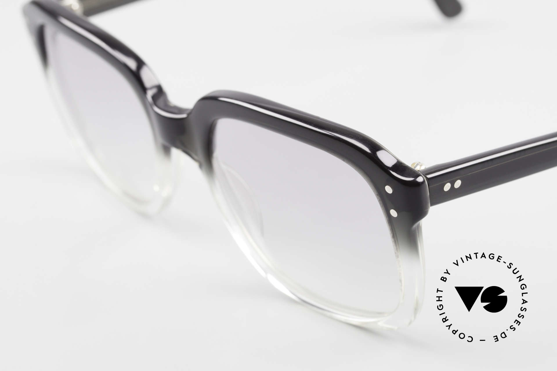 """Metzler 449 Echte 70er Original Nerdbrille, damals typische Farbgebung in """"schwarz zu kristall"""", Passend für Herren"""