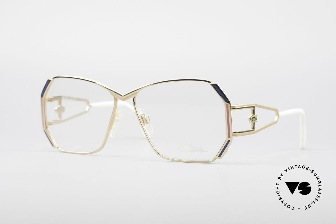Cazal 225 80er Old School HipHop Brille, markante CAZAL vintage Brillenfassung von 1989/90, Passend für Damen
