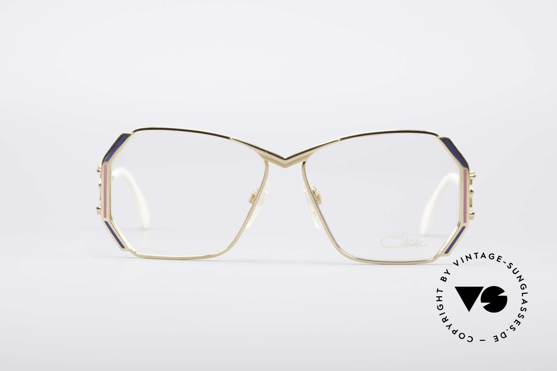 Cazal 225 80er Old School HipHop Brille, tolles Design von Cari Zalloni mit auffälligen Bügeln, Passend für Damen