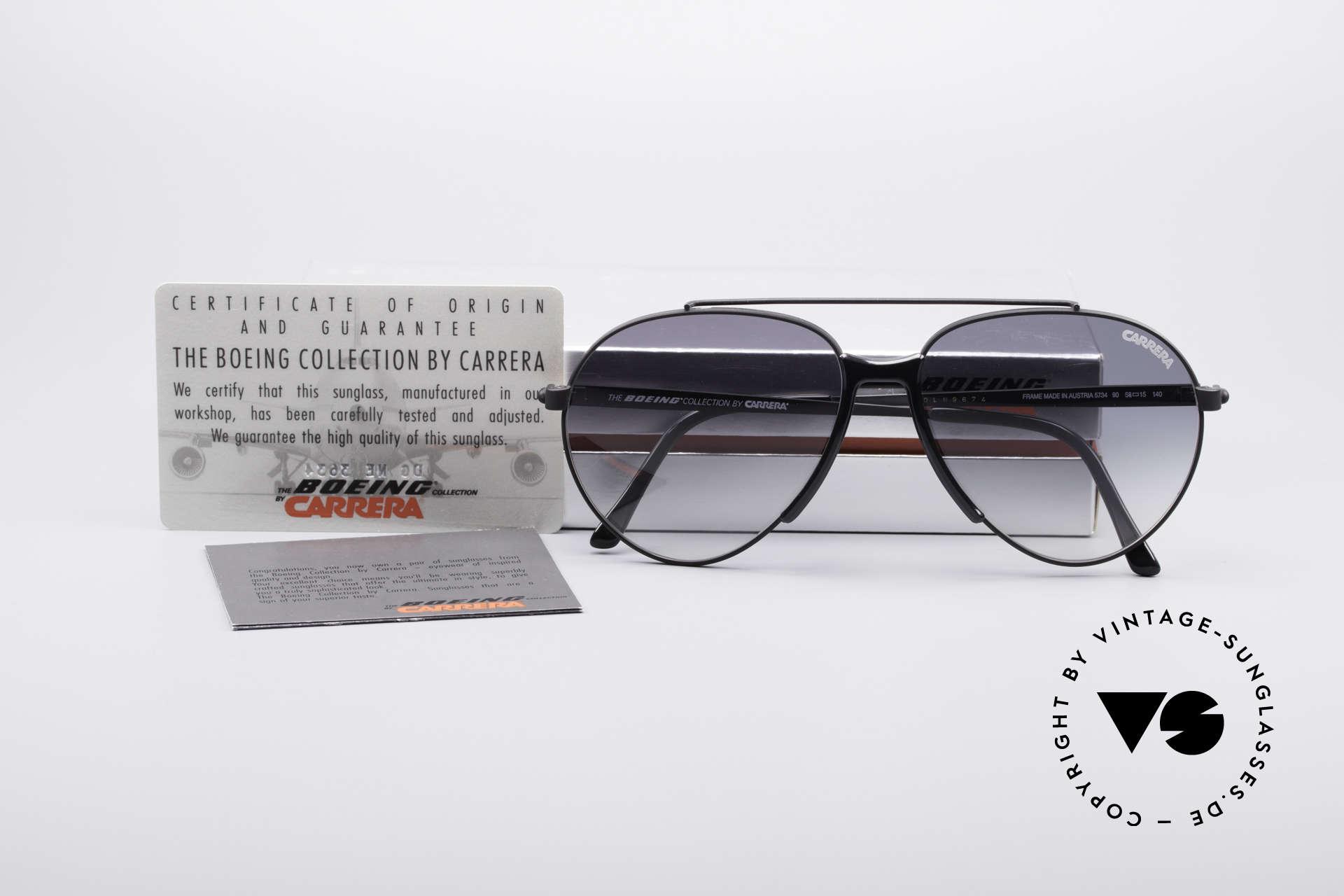 Boeing 5734 Alte Brille 80er Piloten Brille, Größe: medium, Passend für Herren und Damen