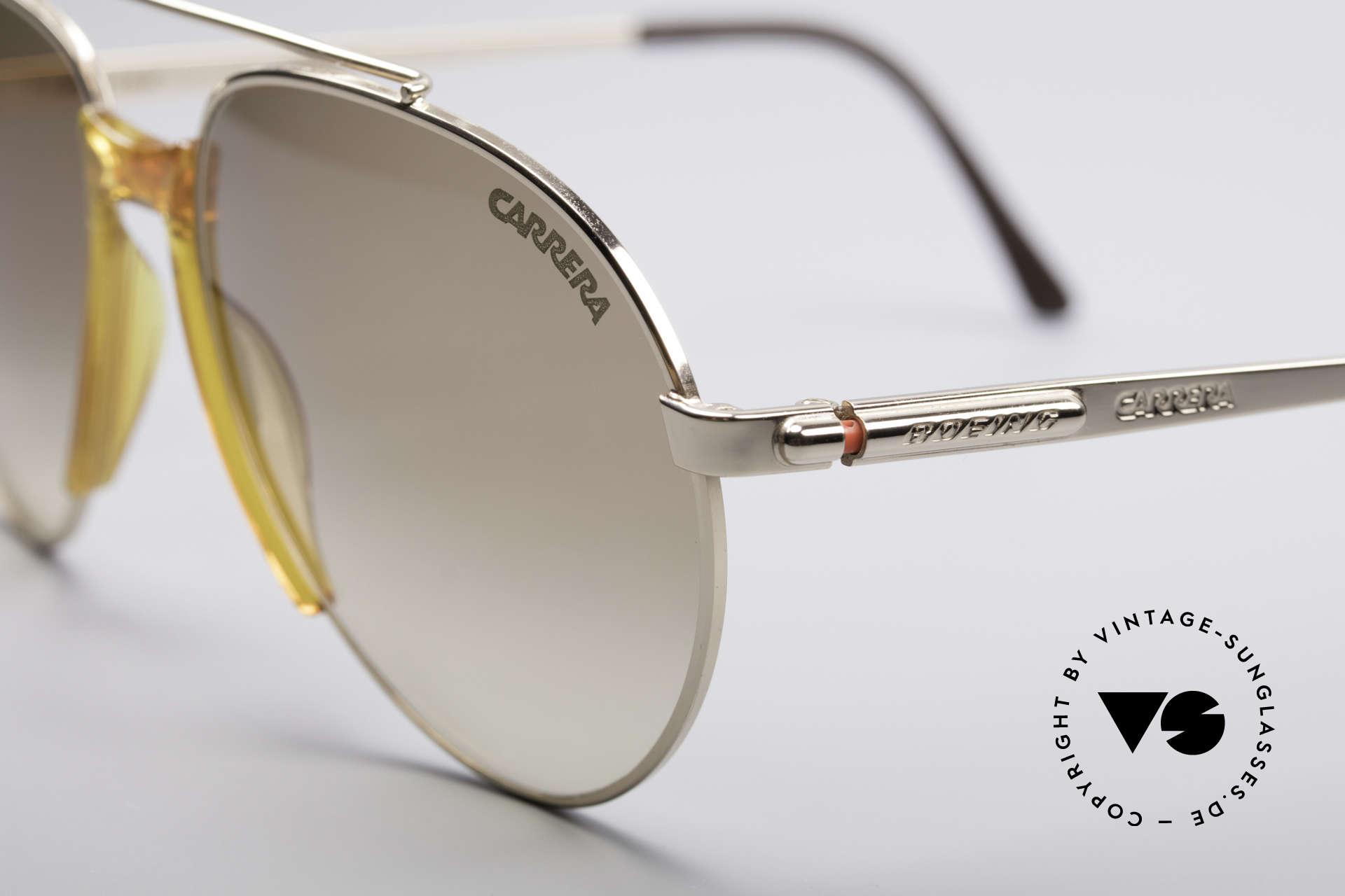 Boeing 5734 Alte Brille Pilotenbrille 80er, entsprechend hochwertig & kostbar (vergoldete Teile), Passend für Herren und Damen