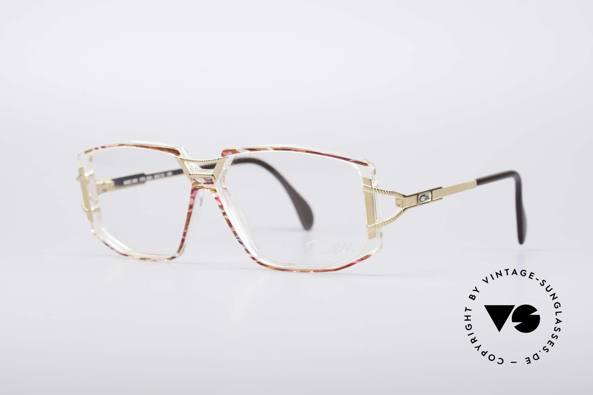 Cazal 362 No Retro 90er Vintage Brille, zauberhafte Kombination aus Materialien & Farben, Passend für Damen