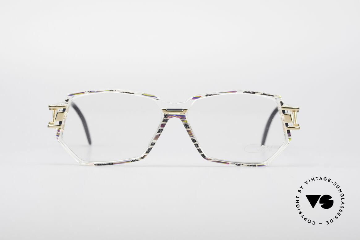 Cazal 359 90er HipHop Style Brille, markante Rahmenform & bemerkenswertes Farbkonzept, Passend für Damen