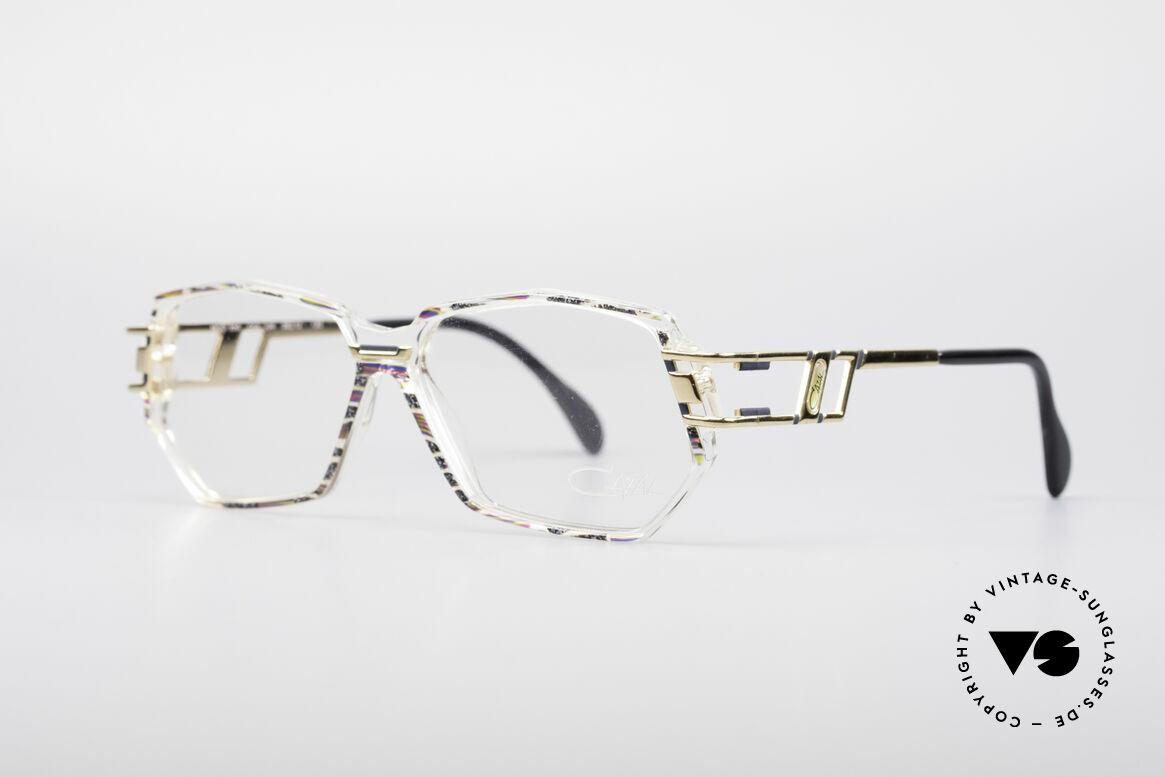 Cazal 359 90er HipHop Style Brille, Farbbezeichnung: granit-oliv-fuchsia / kristall / gold, Passend für Damen