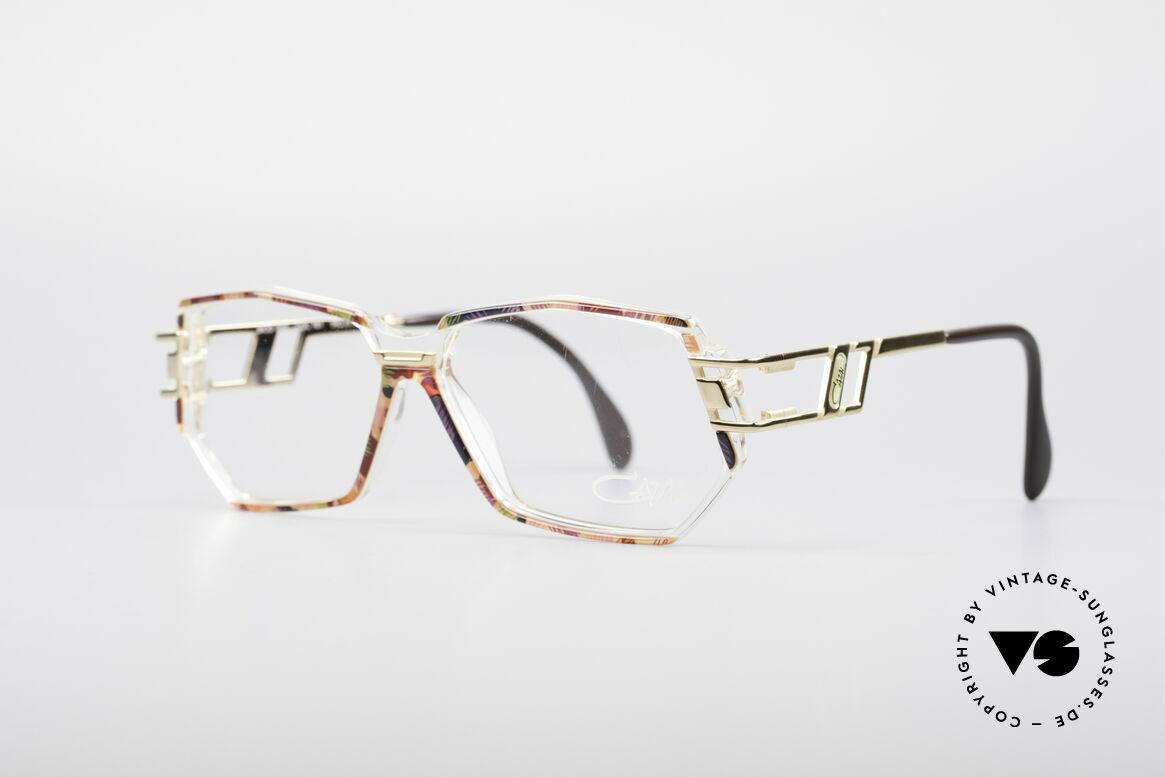 Cazal 359 90er HipHop Style Brille, Farbbezeichnung: blaurot multicolor / kristall / gold, Passend für Damen