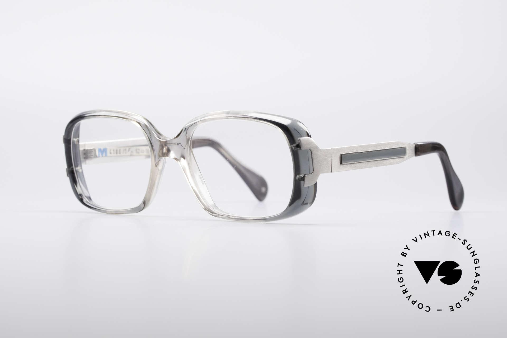 Metzler 4186 Echt 80er Vintage Kombibrille, enorm robuster Rahmen, 133mm breit (Medium Größe), Passend für Herren