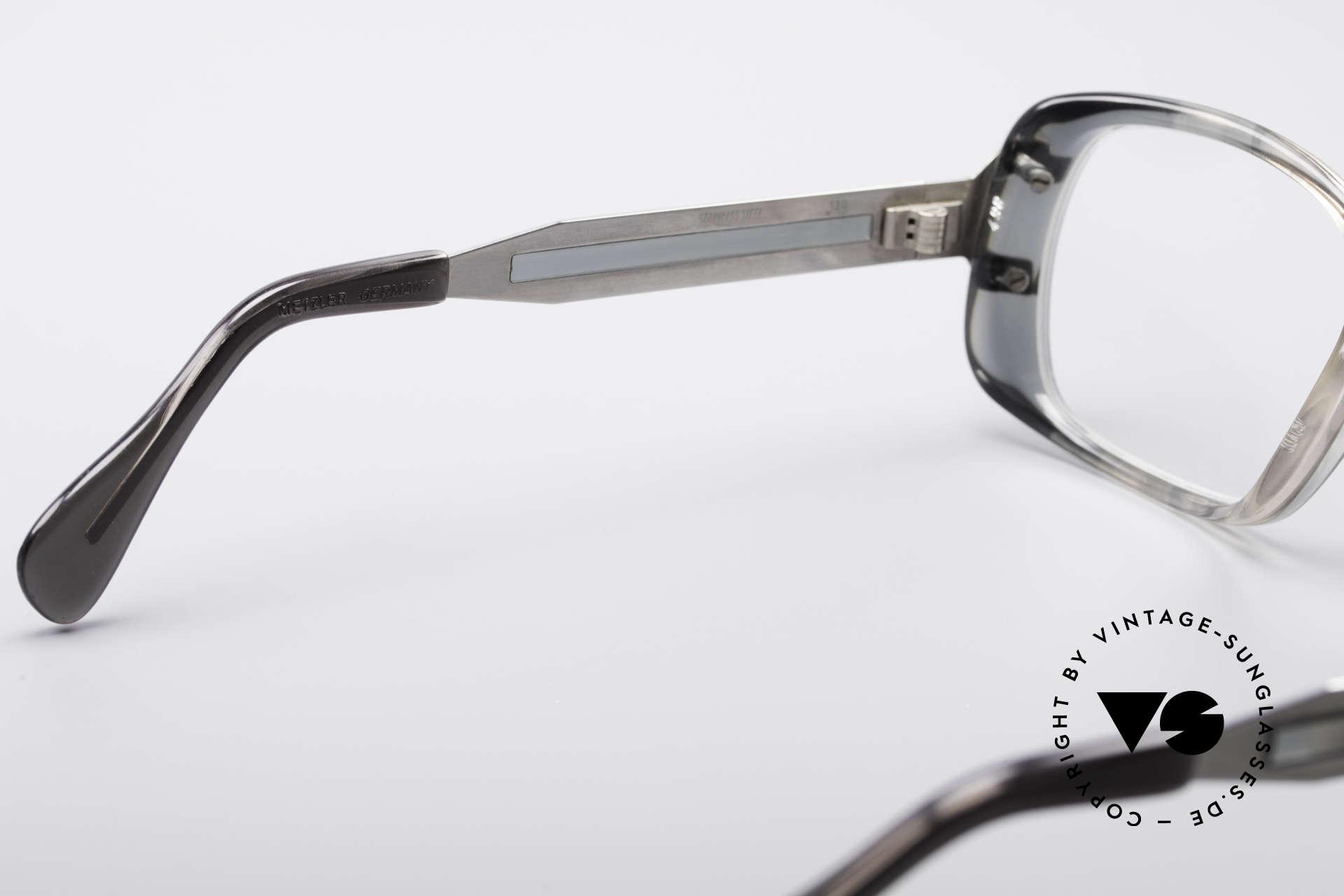 Metzler 4186 Echt 80er Vintage Kombibrille, tolle Material-Kombination aus Kunststoff und Metall, Passend für Herren