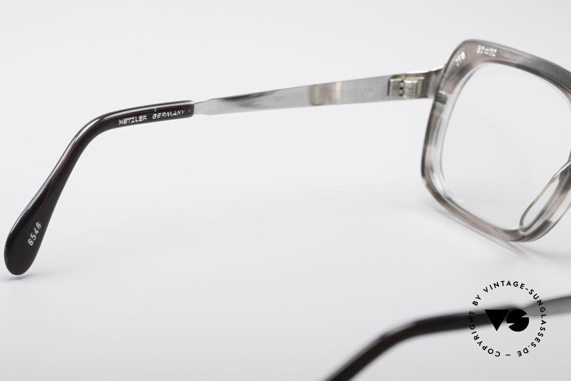 Metzler 6546 80er Vintage NO Retrobrille, KEINE Retrobrille, sondern ein seltenes altes Original, Passend für Herren
