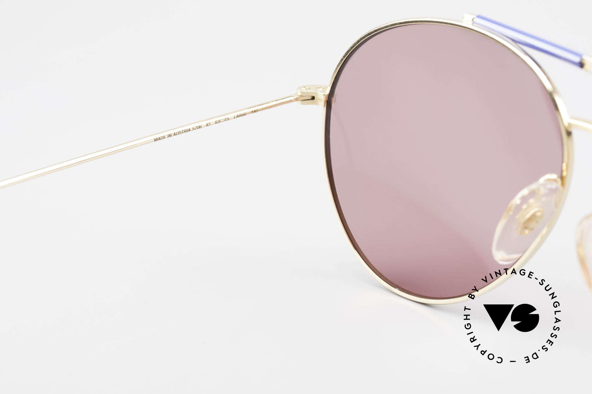 Boeing 5706 80er Piloten Sonnenbrille XL, ungetragen (wie alle unsere vintage Boeing Brillen), Passend für Herren