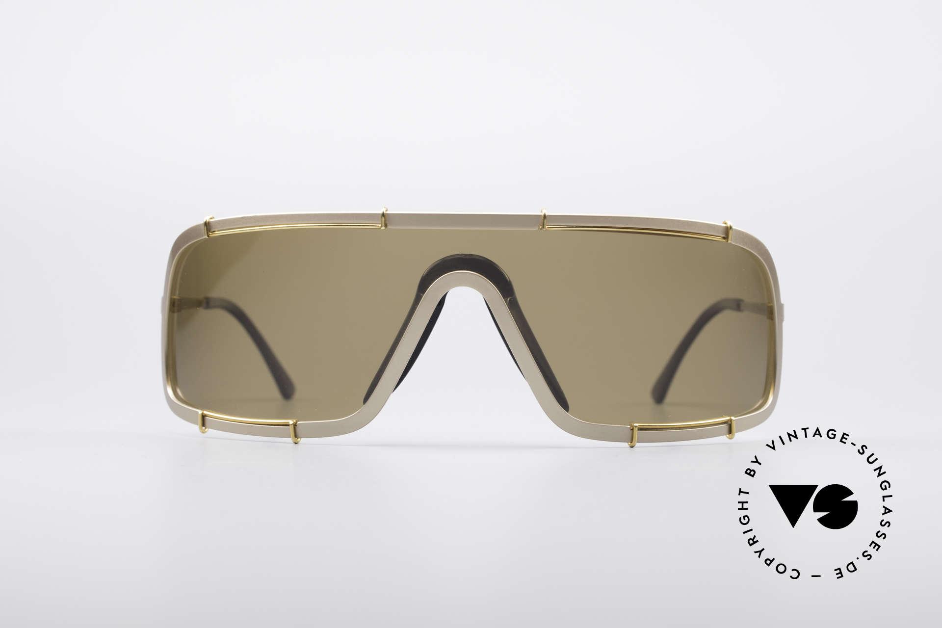 Boeing 5708 80er Luxus Sport Sonnenbrille, Panorama-Blick-Design mit polarisierender Scheibe, Passend für Herren
