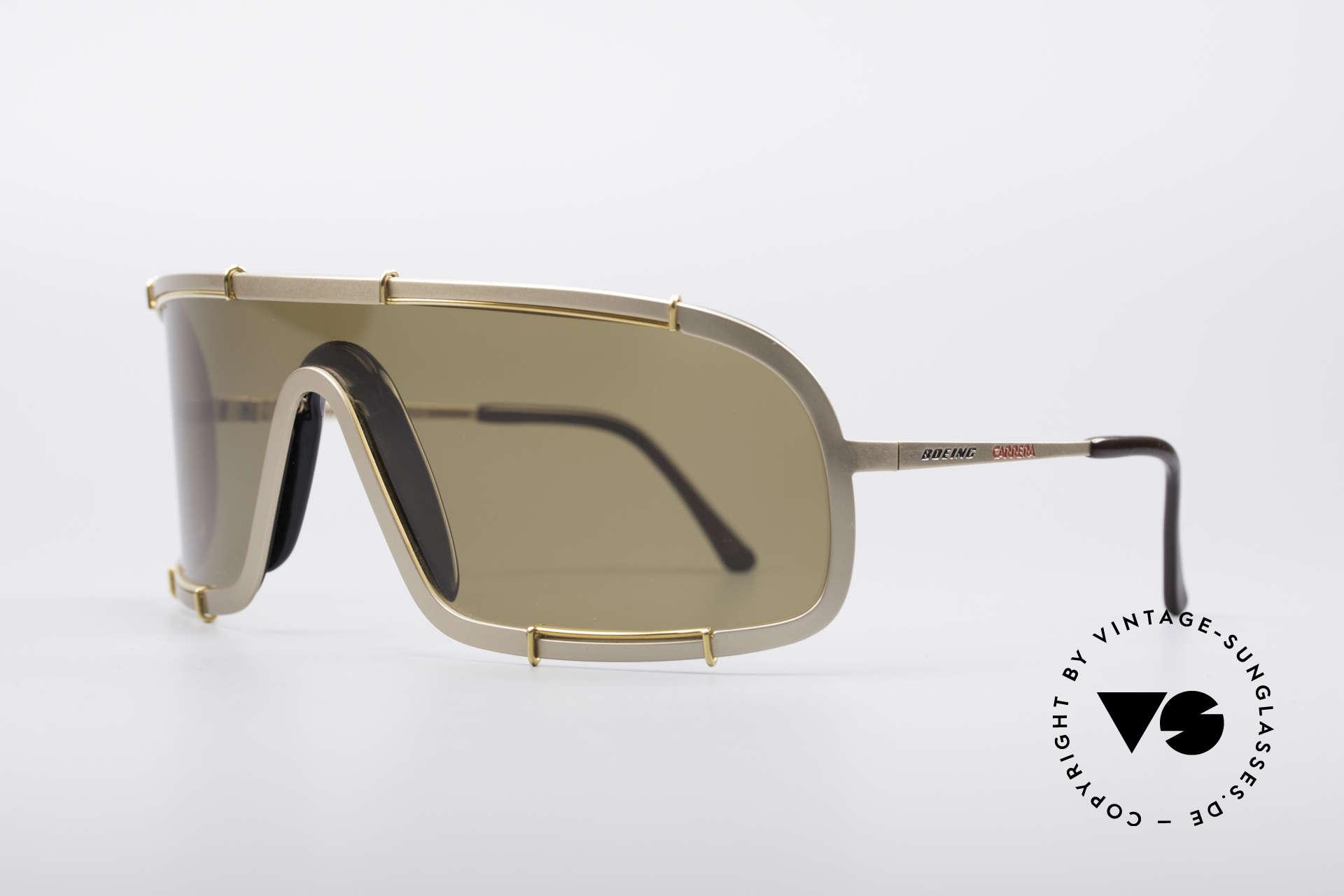 Boeing 5708 80er Luxus Sport Sonnenbrille, mit anpassbarem Sattelsteg und vergoldeter Fassung, Passend für Herren