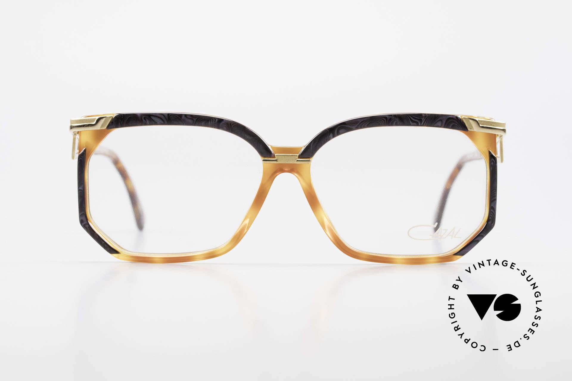 Cazal 333 Echt Vintage HipHop Brille 90s, markante Rahmengestaltung mit dezenten Farben, Passend für Herren und Damen