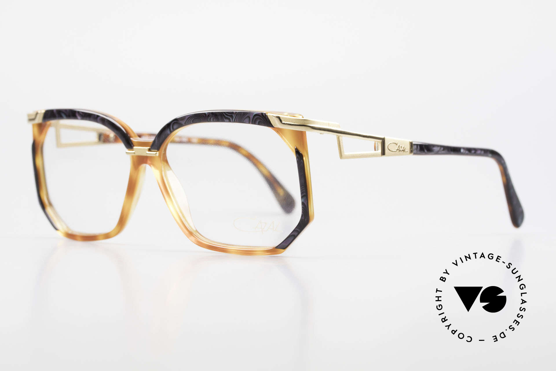 Cazal 333 Echt Vintage HipHop Brille 90s, tolle Kombination von Farbe, Form & Materialien, Passend für Herren und Damen