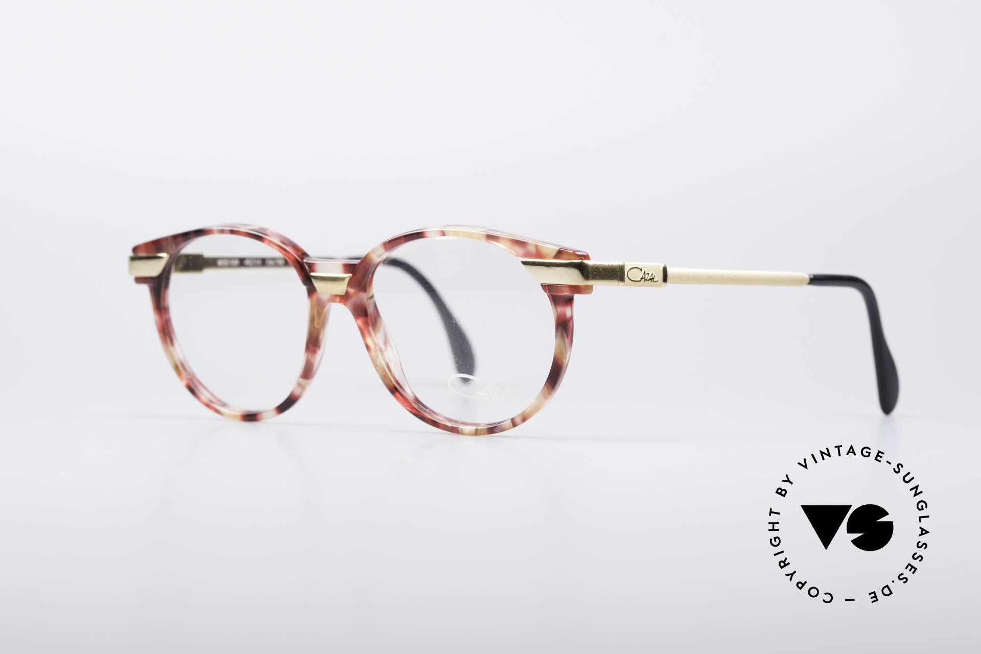 Cazal 338 Kleine Runde Vintage Brille, kreative & zugleich dezente Kolorierung des Rahmens, Passend für Herren und Damen