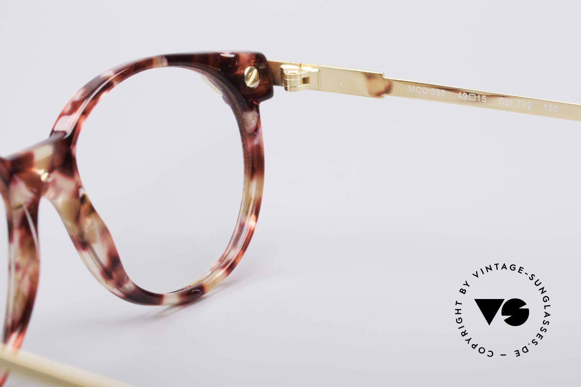 Cazal 338 Kleine Runde Vintage Brille, Größe: small, Passend für Herren und Damen