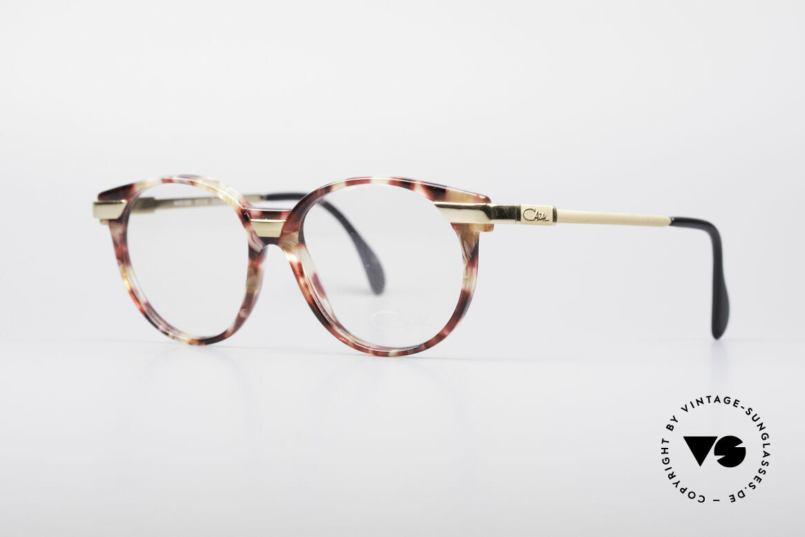 Cazal 338 Runde 90er Vintage Brille, kreative & zugleich dezente Kolorierung des Rahmens, Passend für Herren und Damen