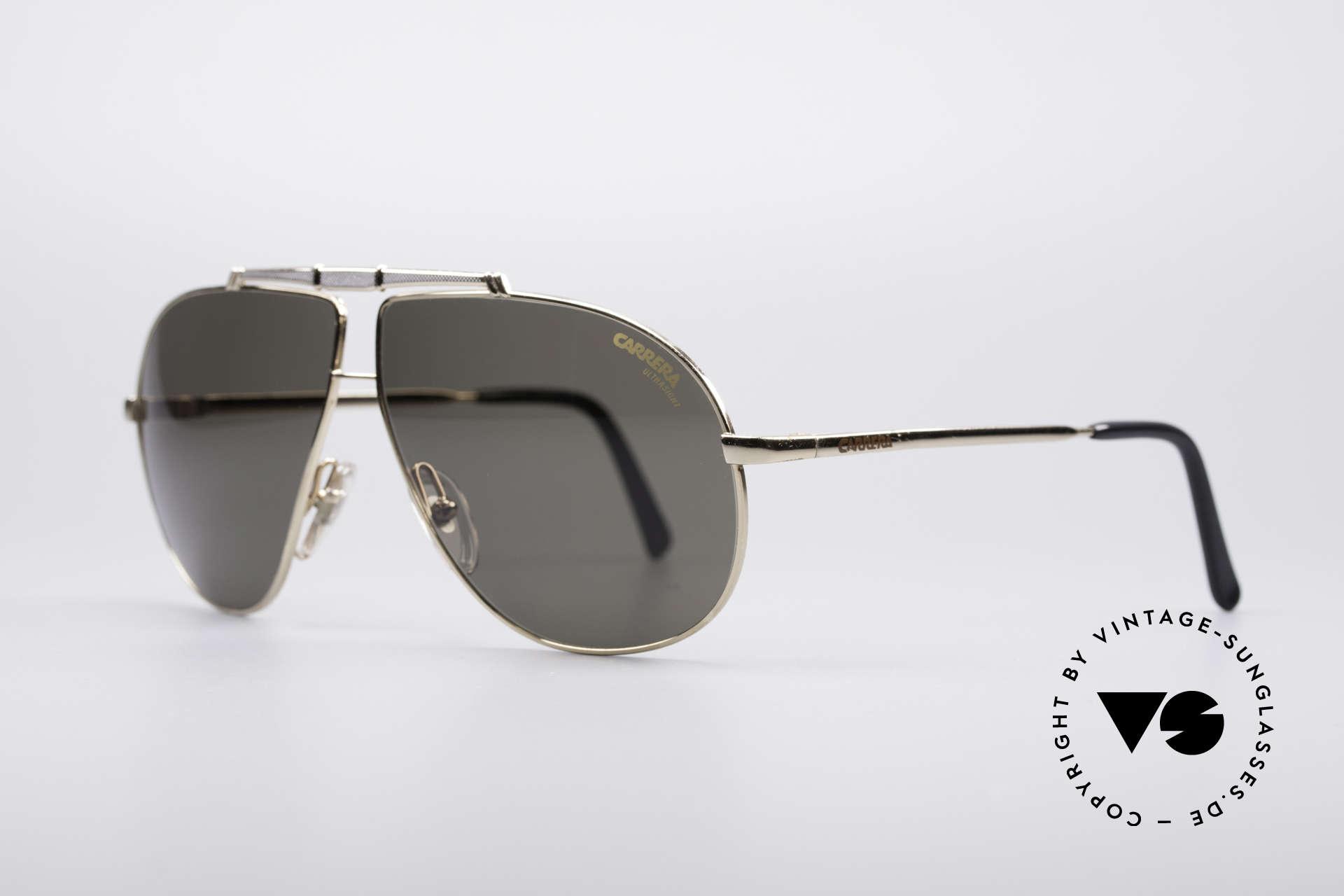 Carrera 5401 80er Pilotensonnenbrille, hochwertige Carrera ULTRASIGHT Gläser (100% UV), Passend für Herren