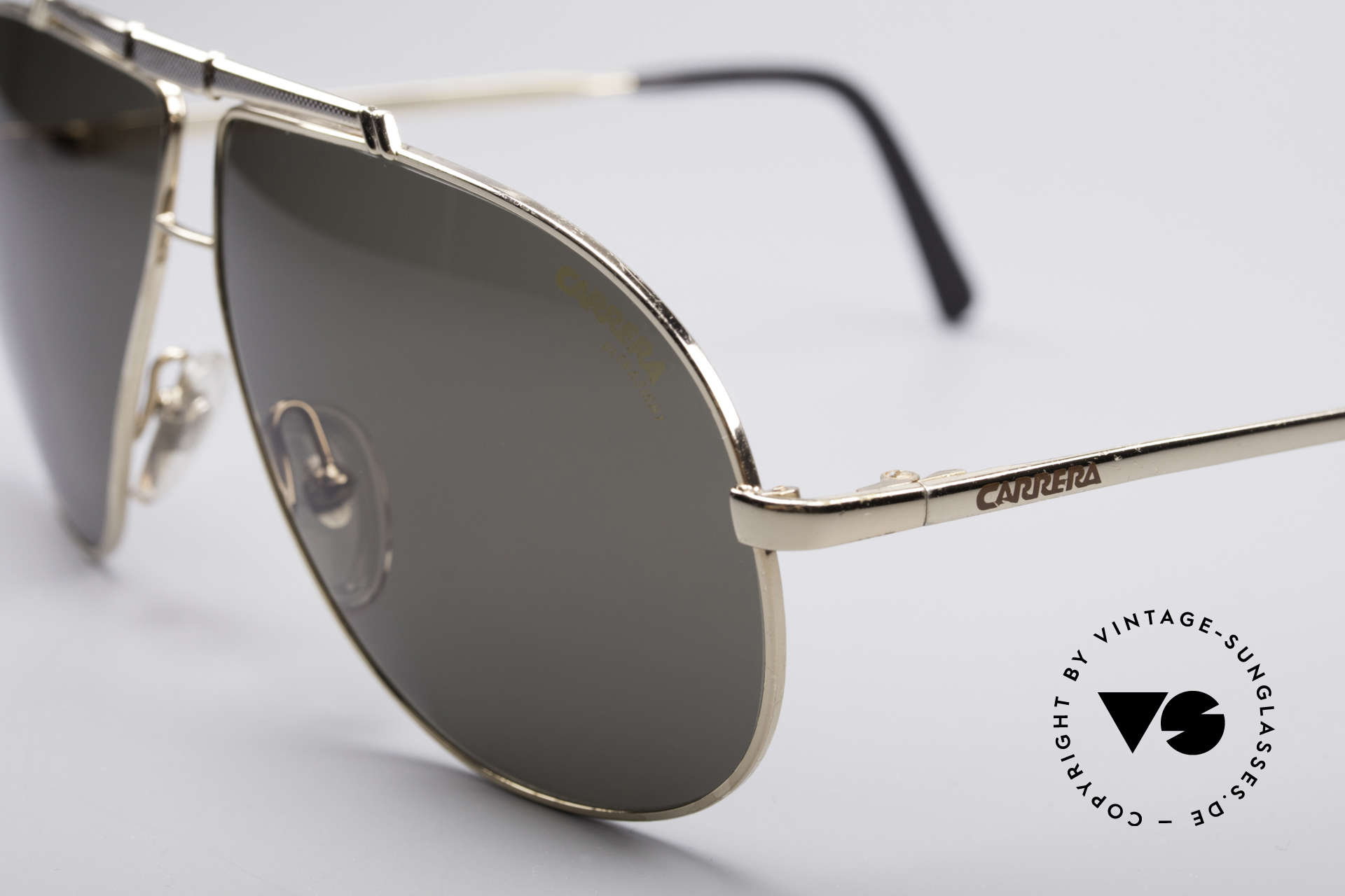 Carrera 5401 80er Pilotensonnenbrille, Top-Qualität & sehr elegantes Design von ca. 1987, Passend für Herren