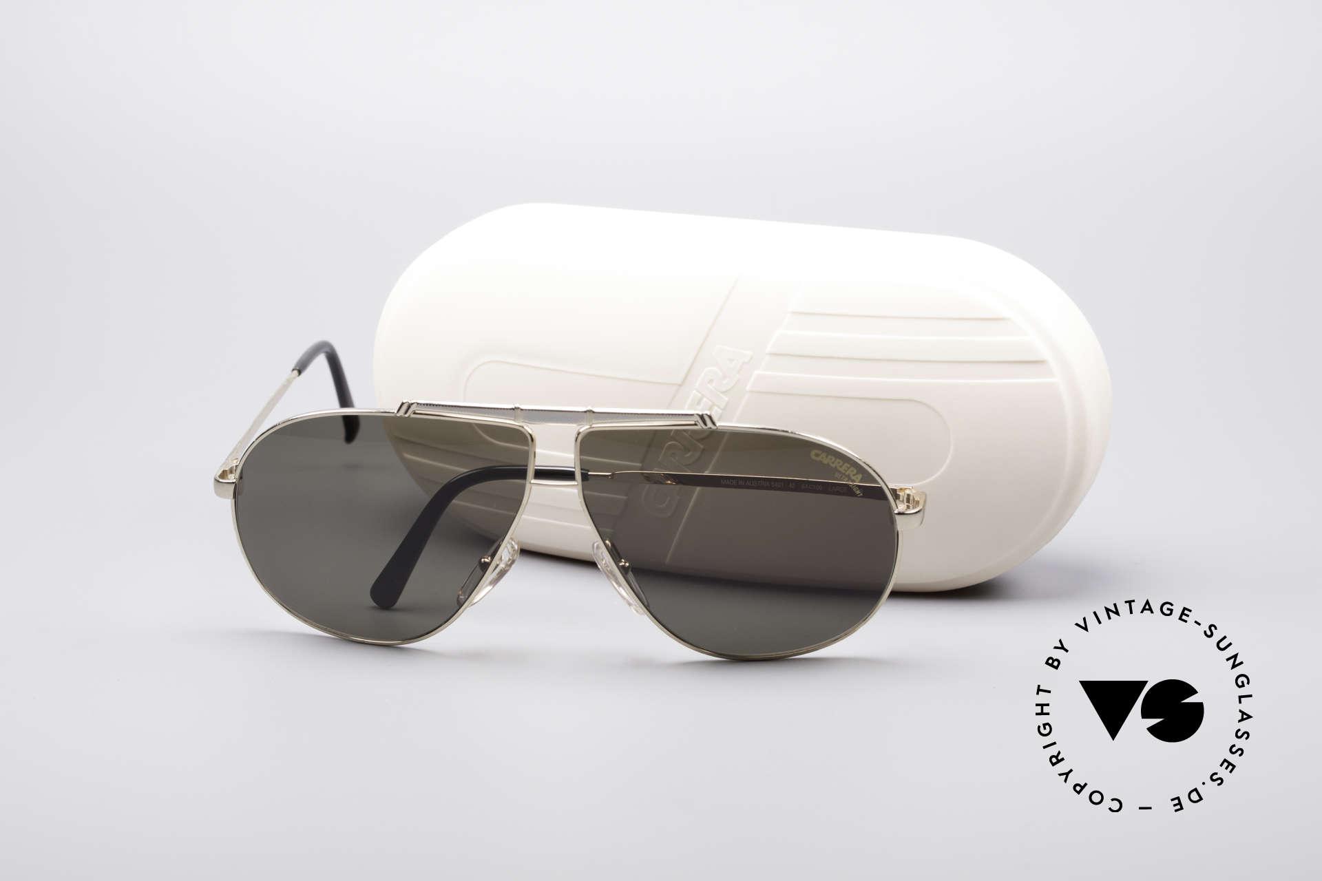 Carrera 5401 80er Pilotensonnenbrille, ungetragen (wie alle unsere Carrera Sonnenbrillen), Passend für Herren