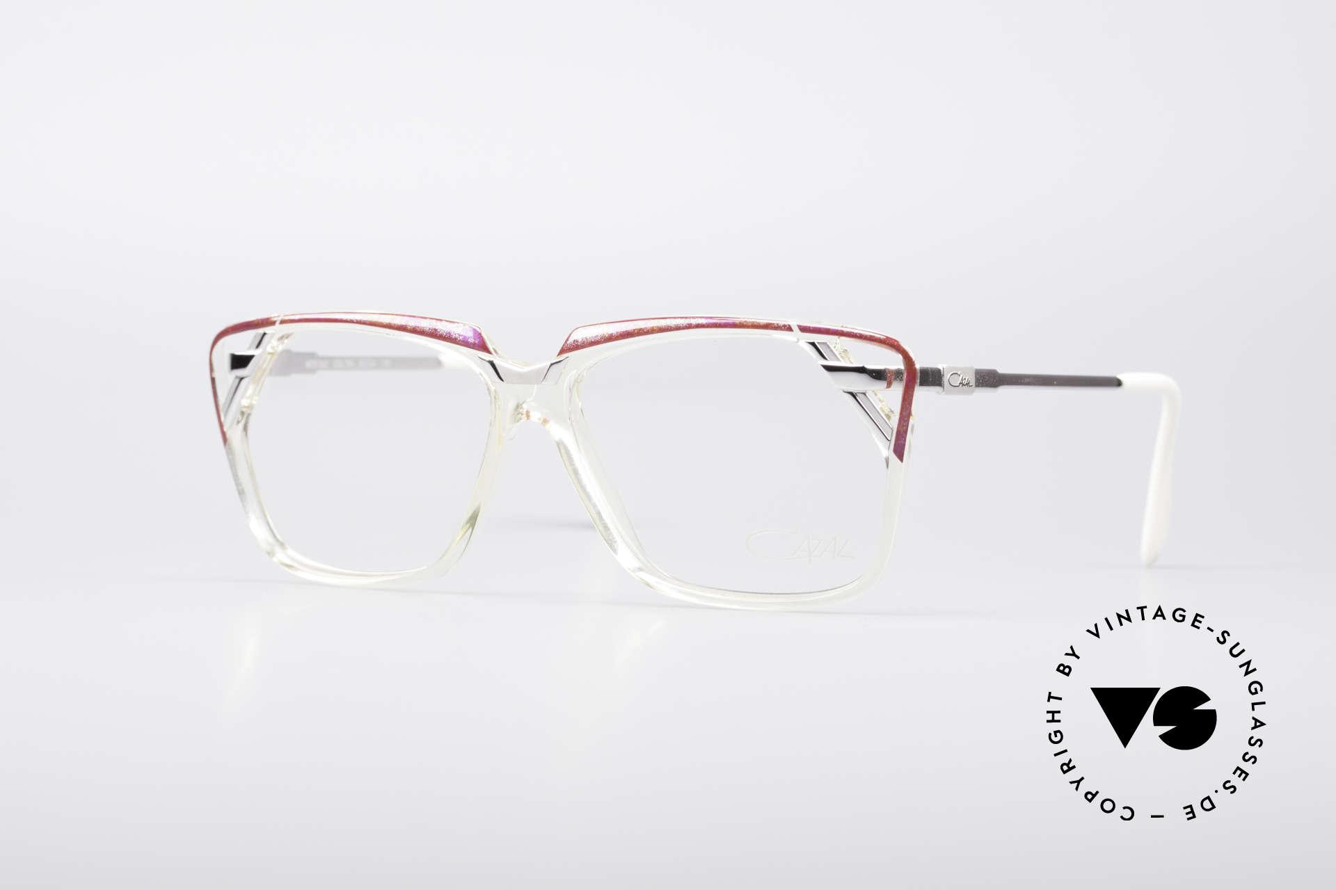Cazal 342 90er Designerbrille, markante Cazal Designerbrille aus den 90ern, Passend für Damen