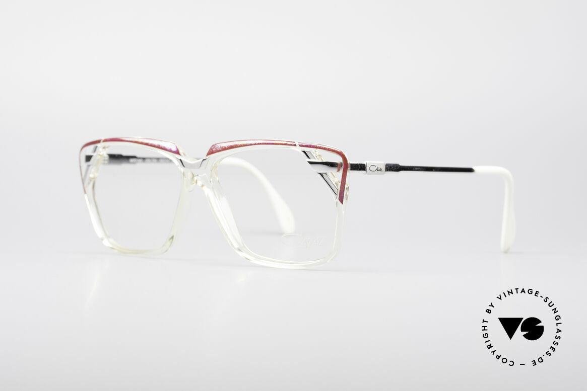 Cazal 342 90er Designerbrille, tolle Metall-, Farb- & Kunststoffkombination, Passend für Damen