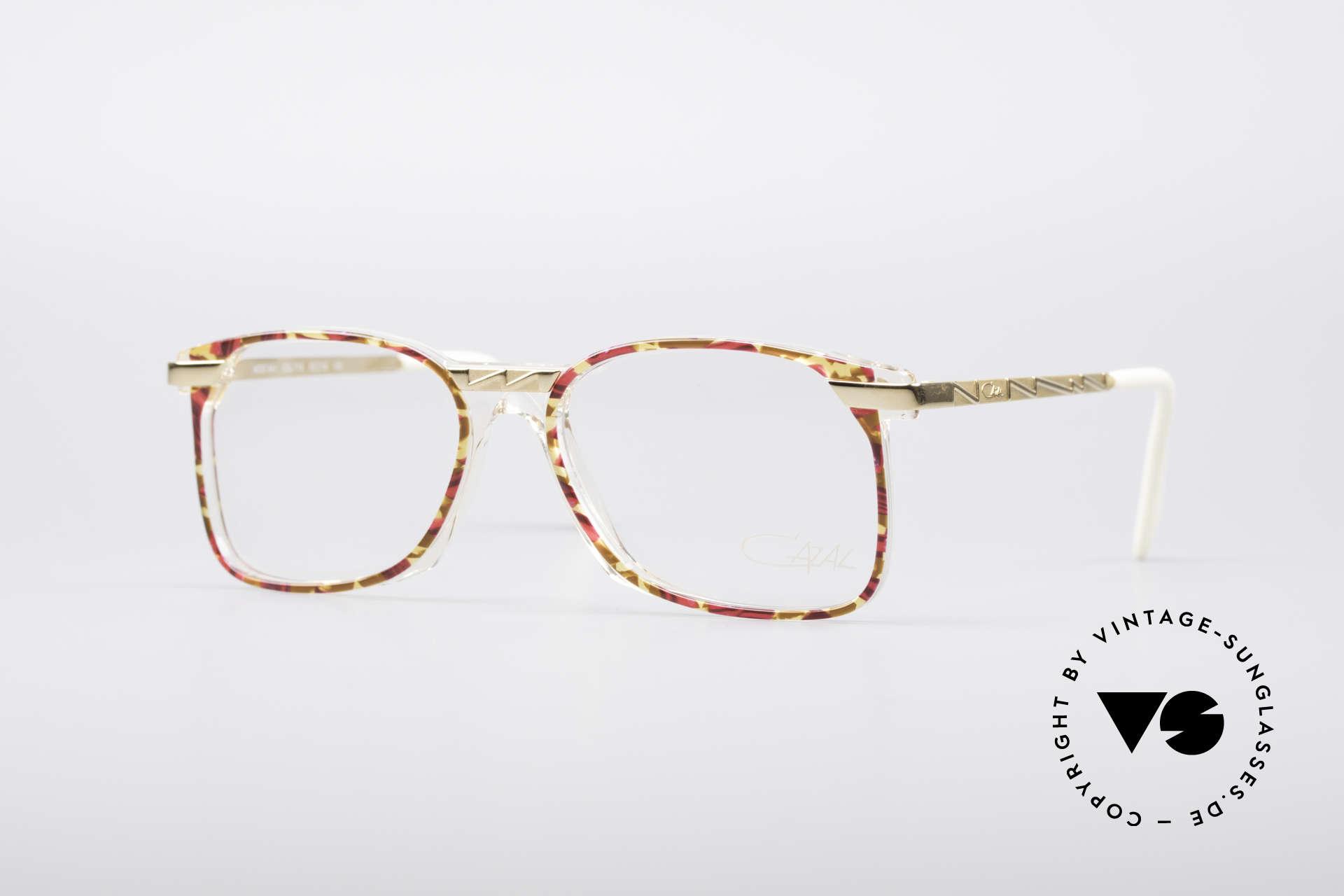 Cazal 341 Vintage No Retro Brille 90er, ausgefallenes Brillendesign von CAZAL (um 1990), Passend für Damen