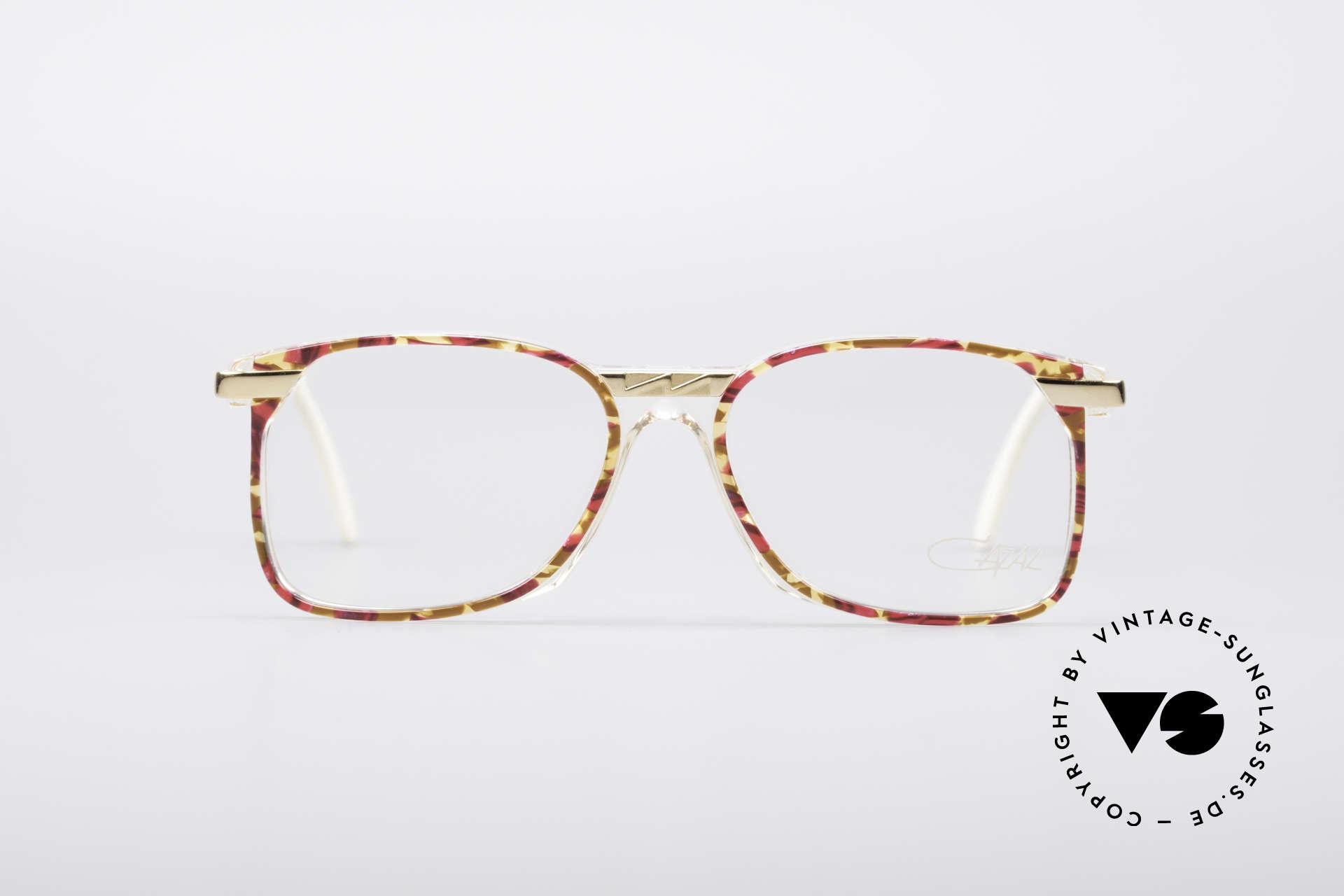 Cazal 341 Vintage No Retro Brille 90er, tolle Kombination von Transparenz, Farbe & Metall, Passend für Damen