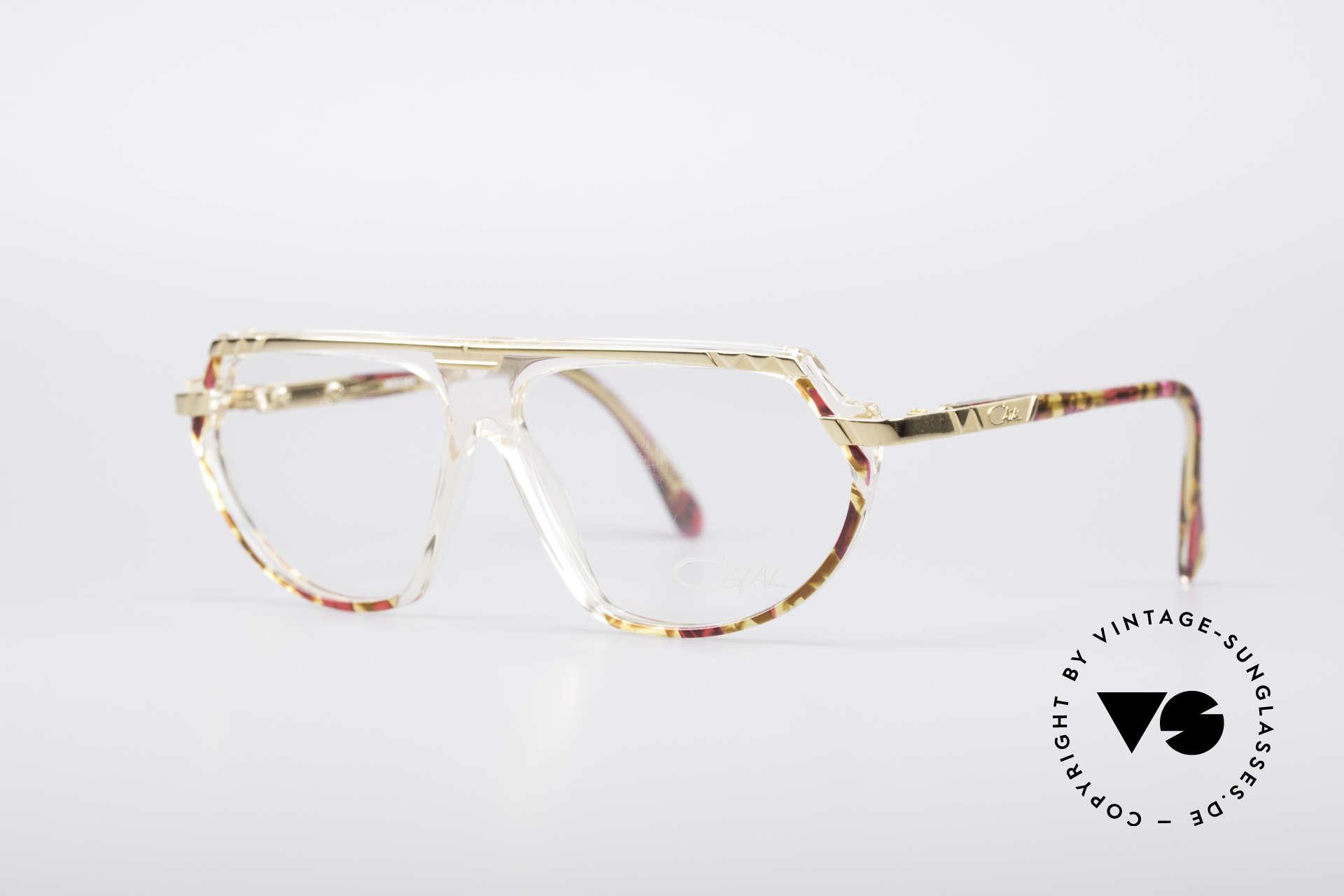 Cazal 344 Old School Kristall Brille, verziert mit Farben, Mustern und div. Applikationen, Passend für Damen