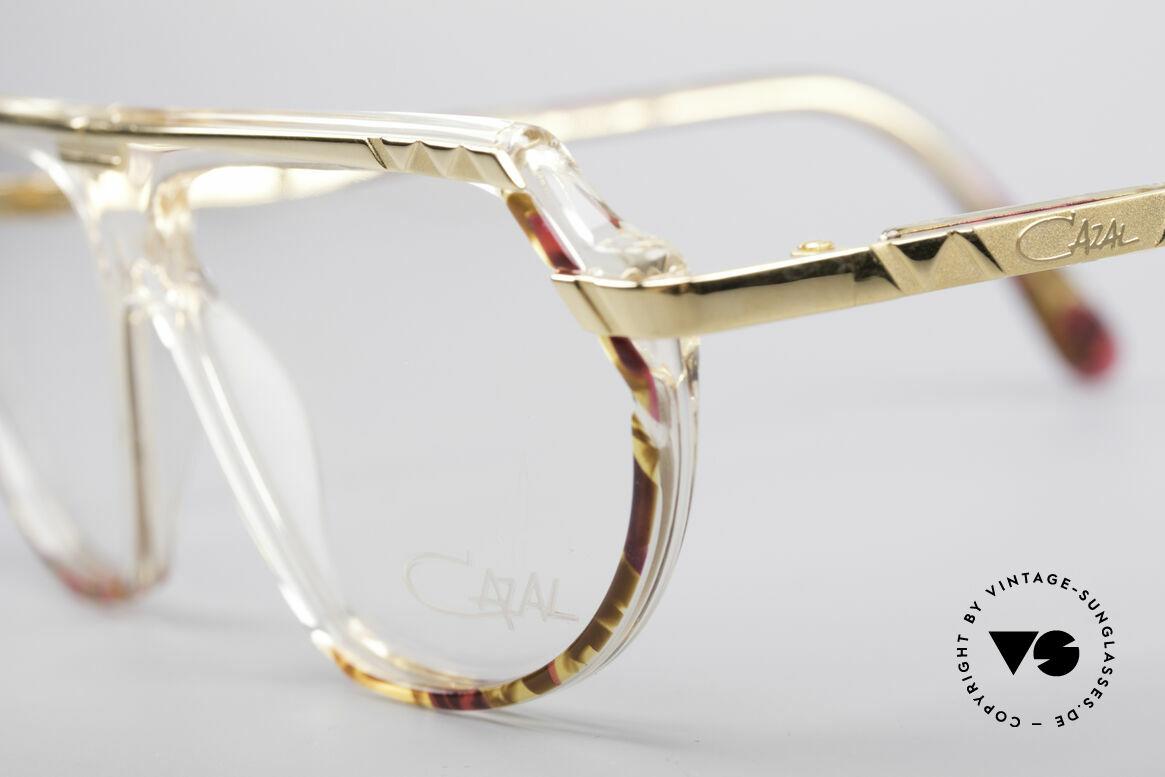 Cazal 344 Old School Kristall Brille, passendes Accessoire zu jedem 90er Hip-Hop Outift, Passend für Damen