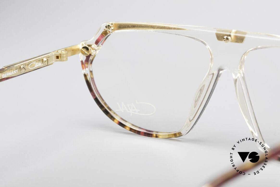 Cazal 344 Old School Kristall Brille, Rahmen (KLEINE Gr. 57/12) ist beliebig verglasbar, Passend für Damen