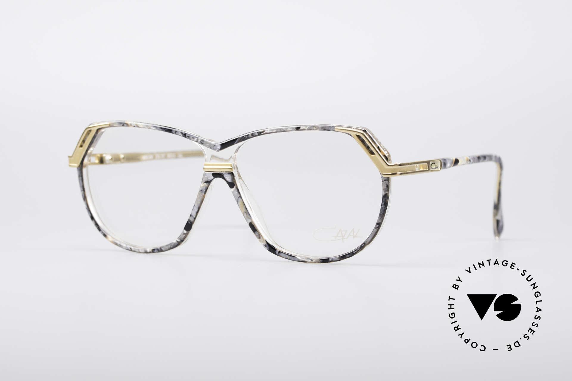 Cazal 339 No Retro 90er Vintage Brille, grandiose Cazal Designerbrille aus den 90ern, Passend für Damen