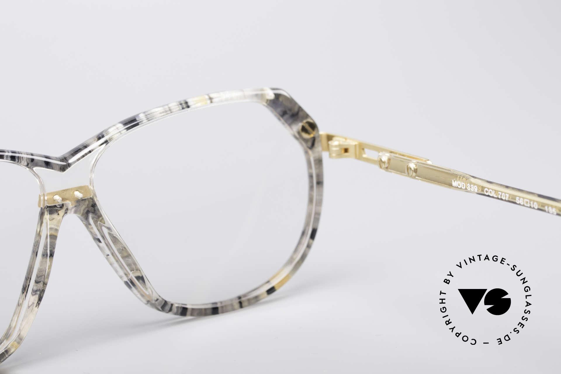 Cazal 339 No Retro 90er Vintage Brille, Größe: small, Passend für Damen