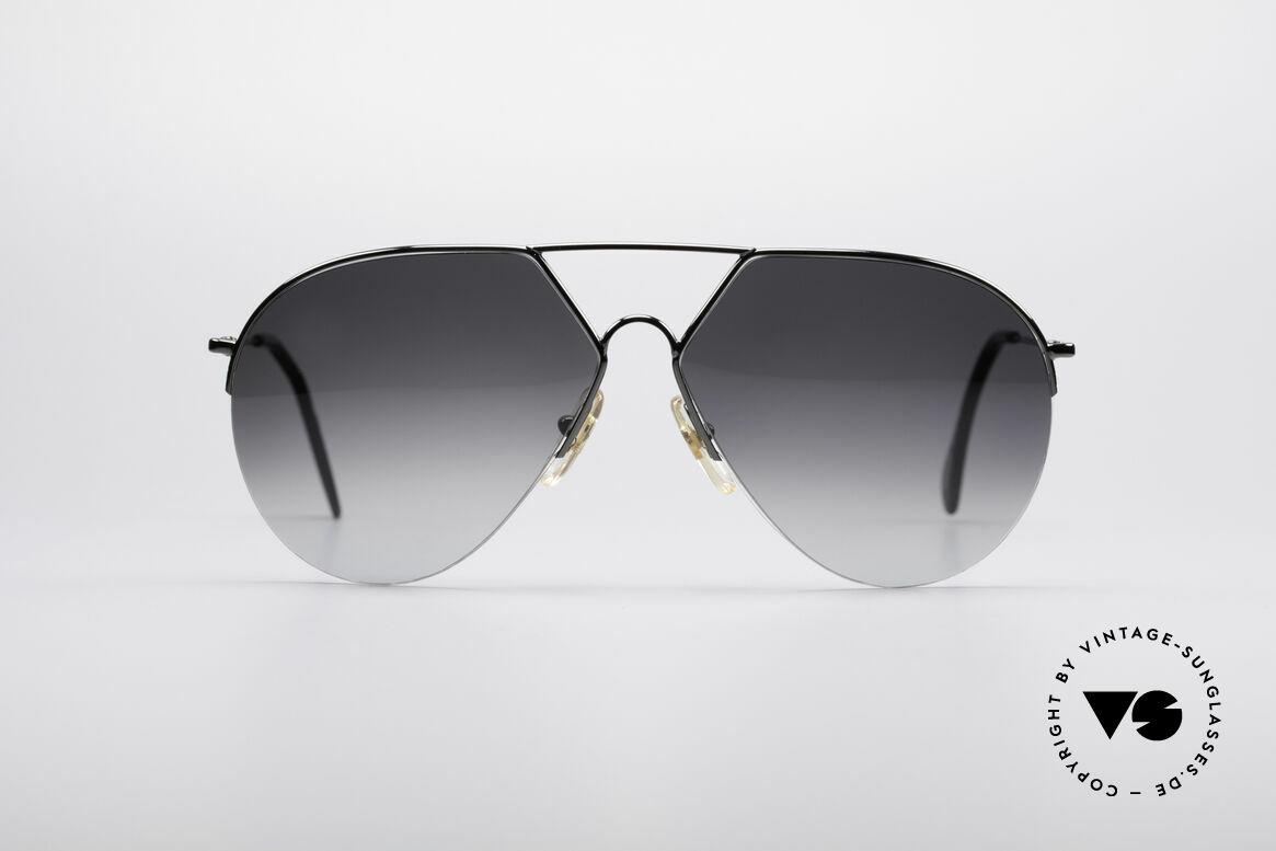 Alpina TR3 Style 80er Pilotensonnenbrille, halb-rahmenlose Alpina Fassung (ähnlich der TR3), Passend für Herren