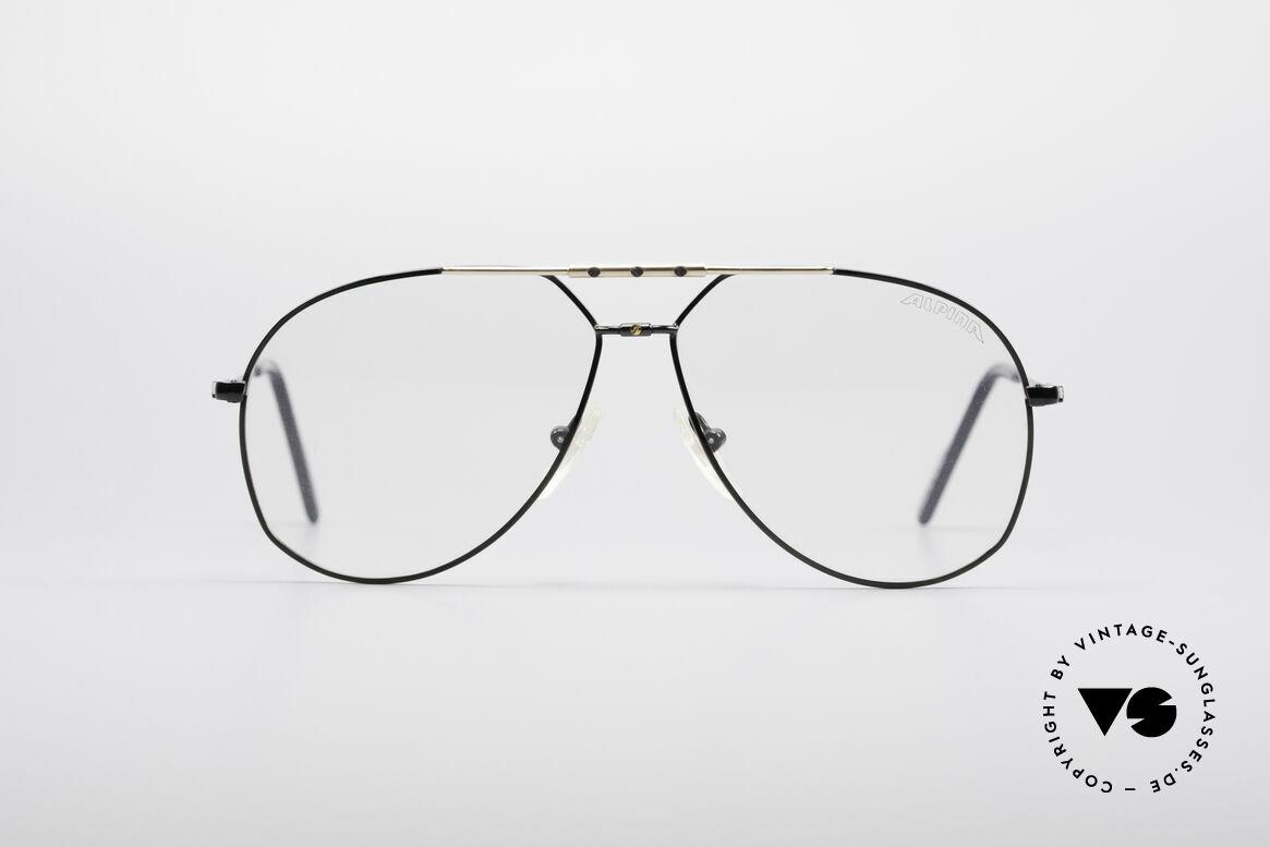Alpina M1F750 Alte Vintage Pilotenbrille, klassische vintage ALPINA Pilotenbrillen-Form, Passend für Herren