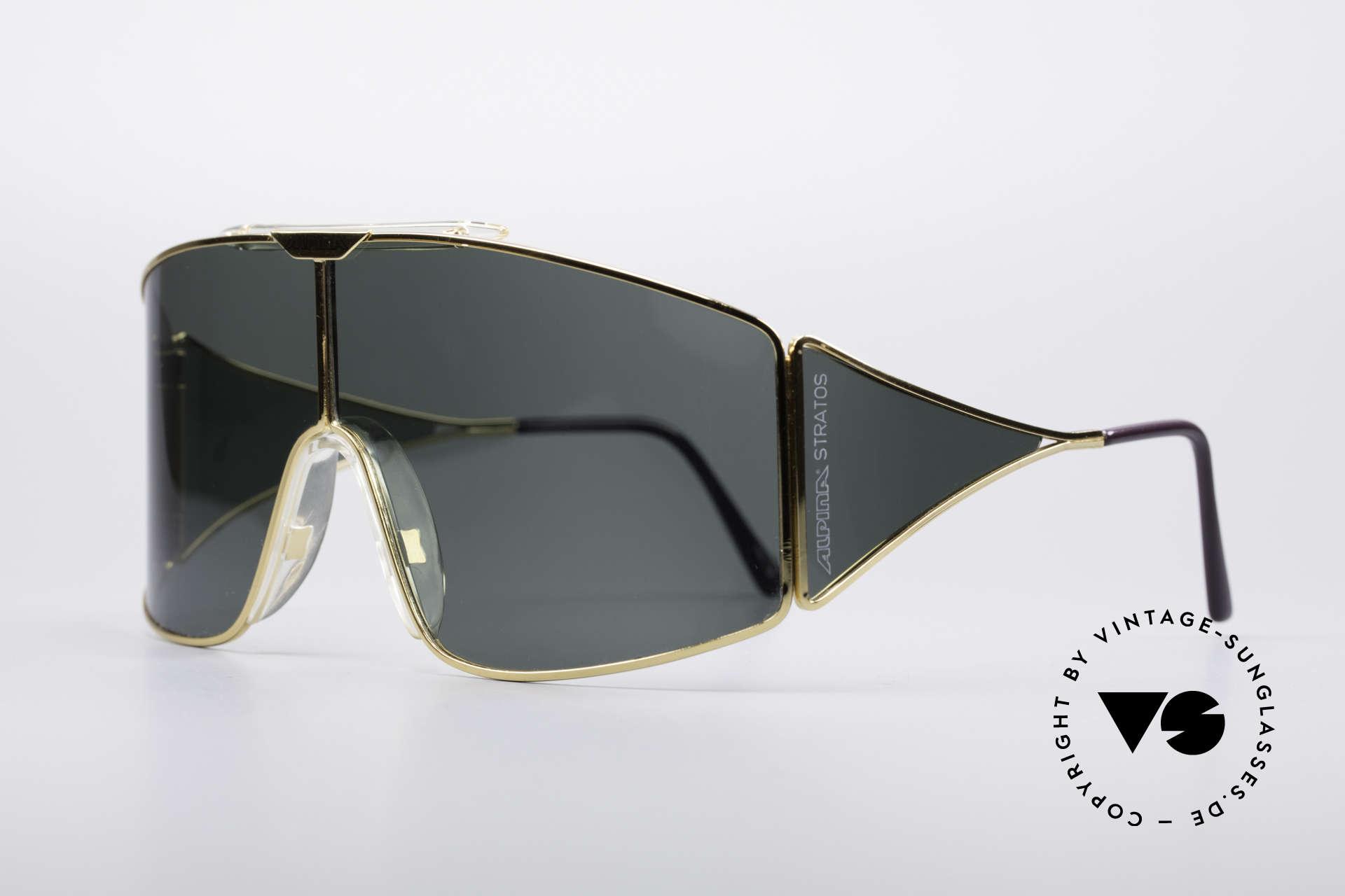 Alpina Stratos Polarisierende Vintage Brille, Hybrid aus Sport & Schick; seltenes Designerstück, Passend für Herren